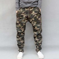 New High Quality Men Elastic Pants Camouflage Harem Personality Male Plus Size Pencil Pants Big Size