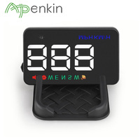 Arpenkin HUD Head Up Display Universal 3.5inch 12V Car Windshield Speedometer Projector Odometer with GPS Compass HUD A5