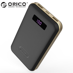 ORICO 12500mAh Type-c Power Bank LCD External Battery Portable Mobile Fast Charger Dual USB Powerbank for iPhone x 7 8 Xiaomi