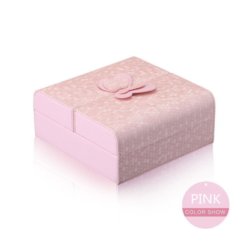 Jewelry Organizer Packaging Box Casket Exquisite Makeup Case Cosmetics Beauty Storage Container Boxes Christmas Gift Pink Color jewelry box european style makeup case cosmetics beauty organizer wedding birthday gift earrings necklace jewelry storage box