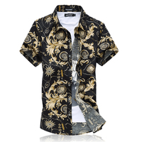 Shirt Men S LEFT ROM 2017 Summer Men Lapel Short Sleeve Shirt Male Fashion Casual Business