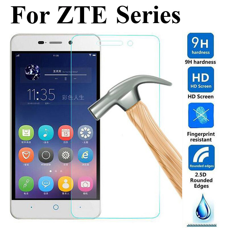 2PCS Tempered Glass For ZTE Blade X3 GF3 T320  X7 D6 A510 A610 A601 A6 V7 LITE A506 A520 A530  A512 Z10 Screen Protector