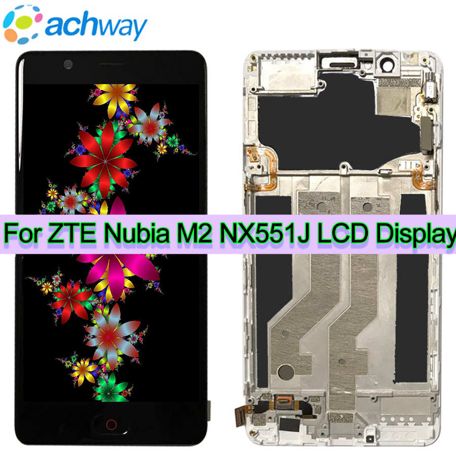 Pour ZTE Nubia M2 NX551J LCD Display + Écran Tactile Digitizer Assemblée Remplacement + Outils + Adhésif Pour ZTE Nubia m2 NX551J