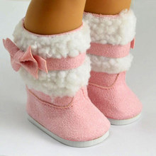 Doll clothes,doll accessories, lovely Pink doll shoes for 18