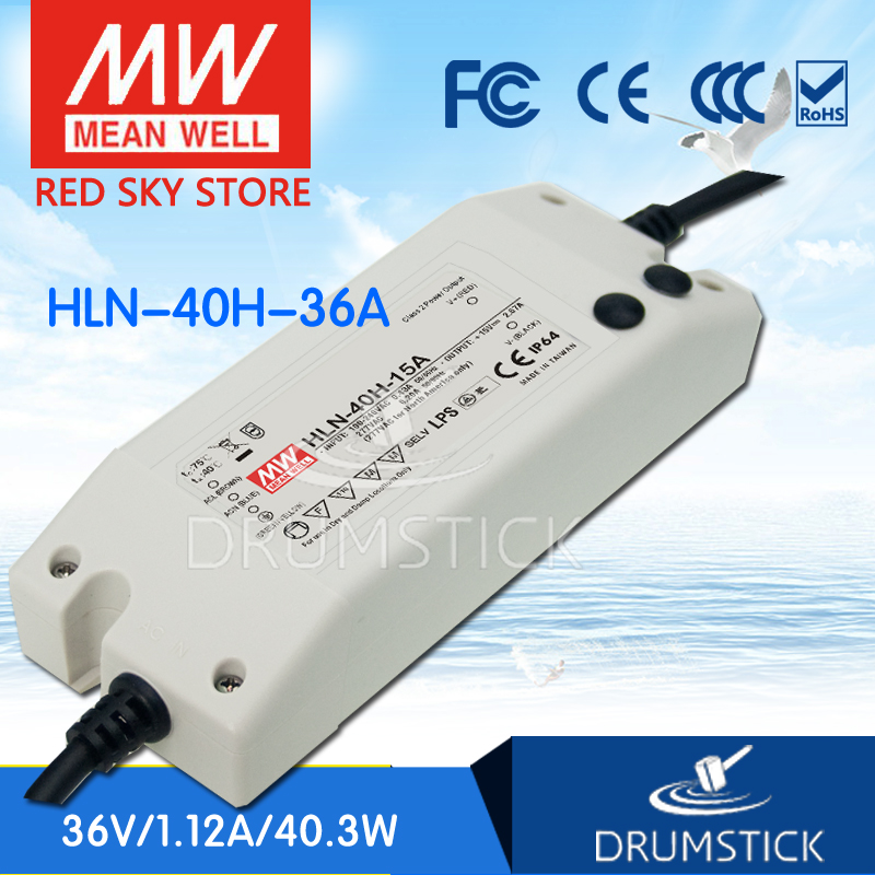 цена на Advantages MEAN WELL HLN-40H-36A 36V 1.12A meanwell HLN-40H 36V 40.3W Single Output LED Driver Power Supply A type