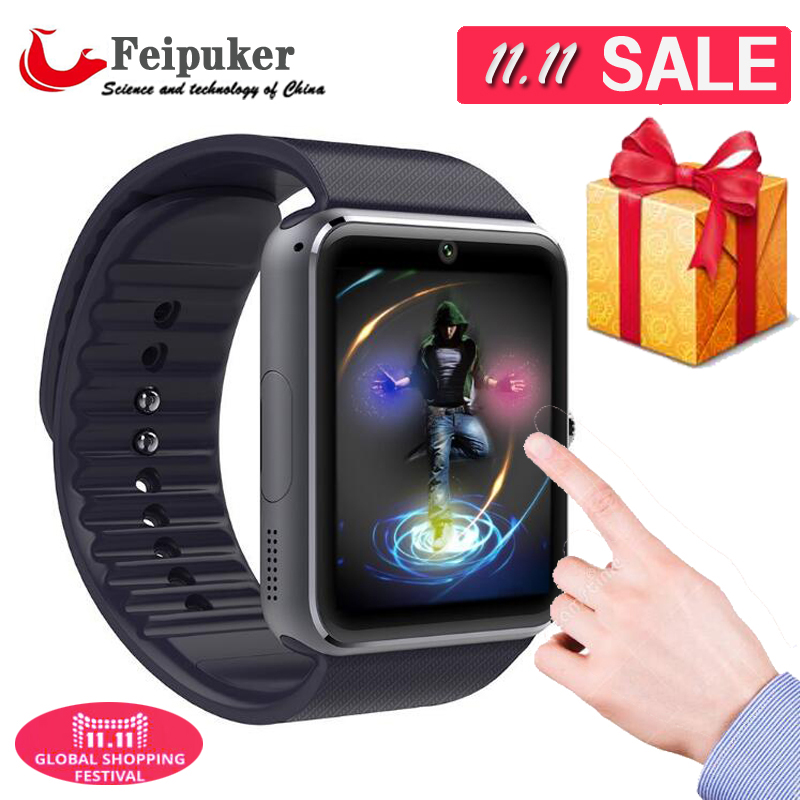 Smart Watch GT08 Clock With Sim Card Slot Push Message Bluetooth Connectivity Android Phone Better Than