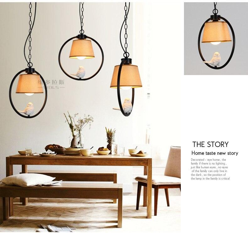 Black white modern angle bird mini pendant light lamp iron for Hanging lights for kids room