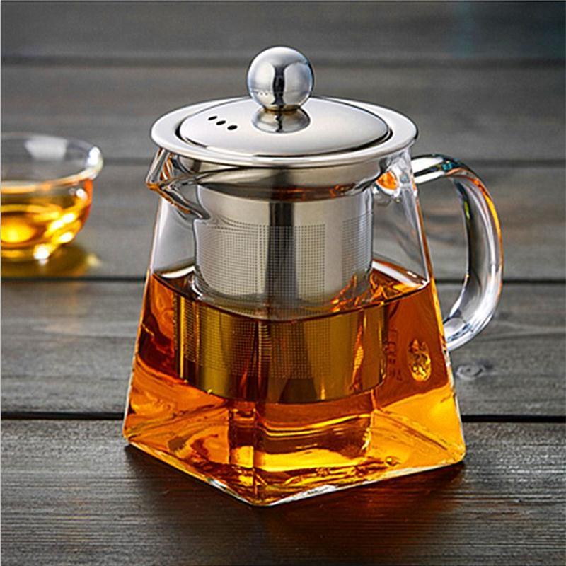 Стекло чайник воды Стекло чайник фильтр из нержавеющей стали высокая термостойкость бытовой чайник Xinze