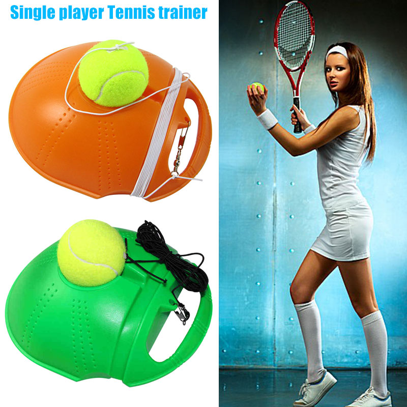 HOT Singles Tennis Trainer Self-study Training Rebound Balls Baseboard Tools HV99