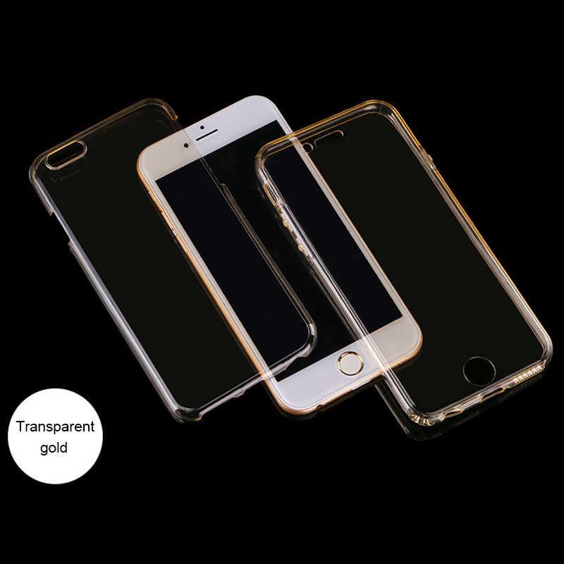 Nephy claro suave caso para iPhone X XR XS Max iPhone 6 iPhone 6 6 S 5S 4 S 5S SE 5SE 8 7 Plus 6Plus 7 7 8Plus de silicona del teléfono celular de la cubierta completa