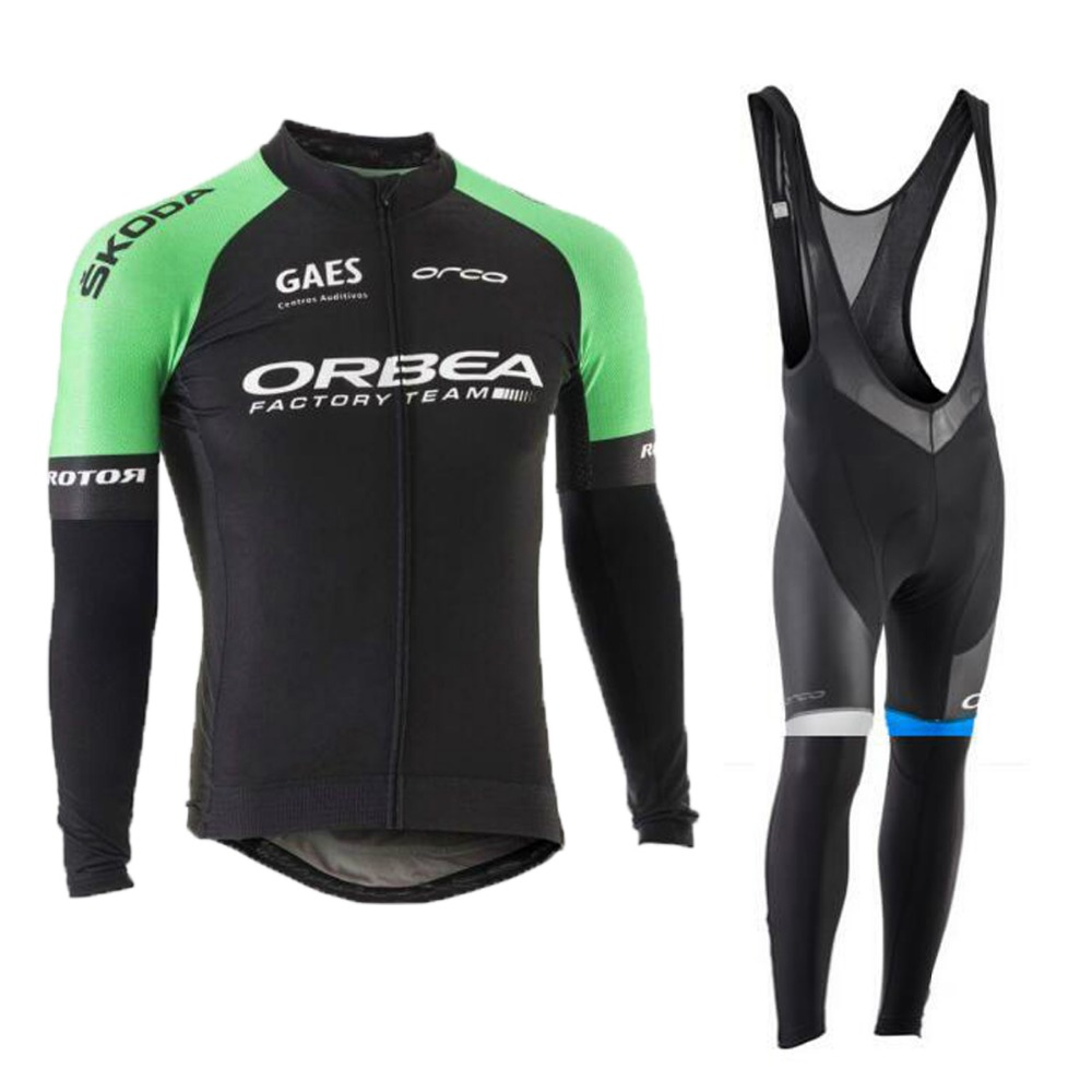 Orbea 2017 Cycling Jerseys Cycling Set Winter Thermal Fleece Long Sleeves Racing MTB Suit Maillot Bike Clothing Ropa Ciclismo