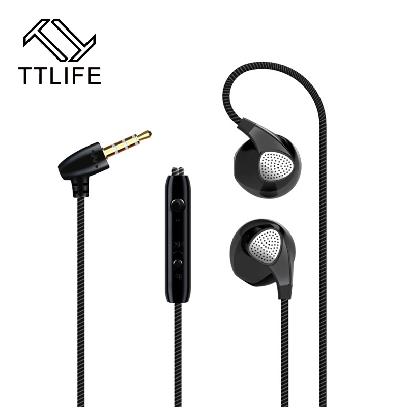 TTLIFE  high quality Sport Earphones Sweatproof Stereo Music With Mic For All Mobile Phone  of 5 color hot high quality sports stereo earphones with mic 3 5mm universal use for mobile phones mp3 mp4 gg11101