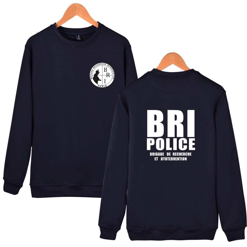 2018 winter Tracksuit men black France French Forces Unit GIGN BRI Hoodie sweatshirt brand cotton Special Elite Police hoodies