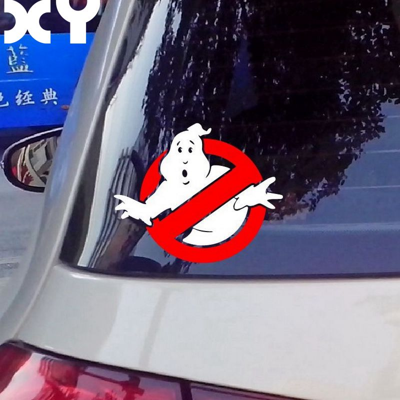 Ghostbusters Vinyl Car Window Decal Waterproof Car Stickers and Decals Automobiles Sticker Drop Shipping halloween decor sticker 3d transparent car back rear window decal vinyl sticker horror monsters zombie
