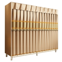 20%Cloth Wardrobe New Simple Modern Fabric Large Steel Frame Fully Closed Assembly Home Bedroom Storage Wardrobe