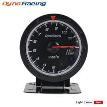 Dynoracing 60MM Car Exhaust Gas Temp Gauge EGT/EXT Temp Gauge With Red & White Light Car Meter with EGT sensor BX101474