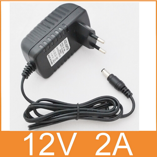 Wholesale AC 100V-240V Adapter DC 12V 2A Power Supply EU Plug 5.5mm x 2.1mm for cctv camera free shipping eu plug ac 100v 240v 12v 2a power supply adapter for security cctv ip camera routers hubs led strip 5 5 2 1mm freeshipping