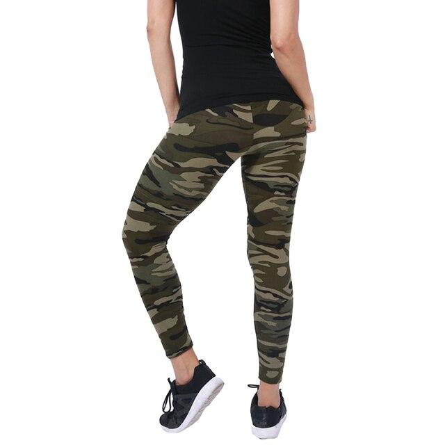 CUHAKCI-Legging de camuflaje ceñido para mujer, pantalones de ocio de alta elasticidad, adelganzantes, para primavera y otoño, nuevas marcas 1