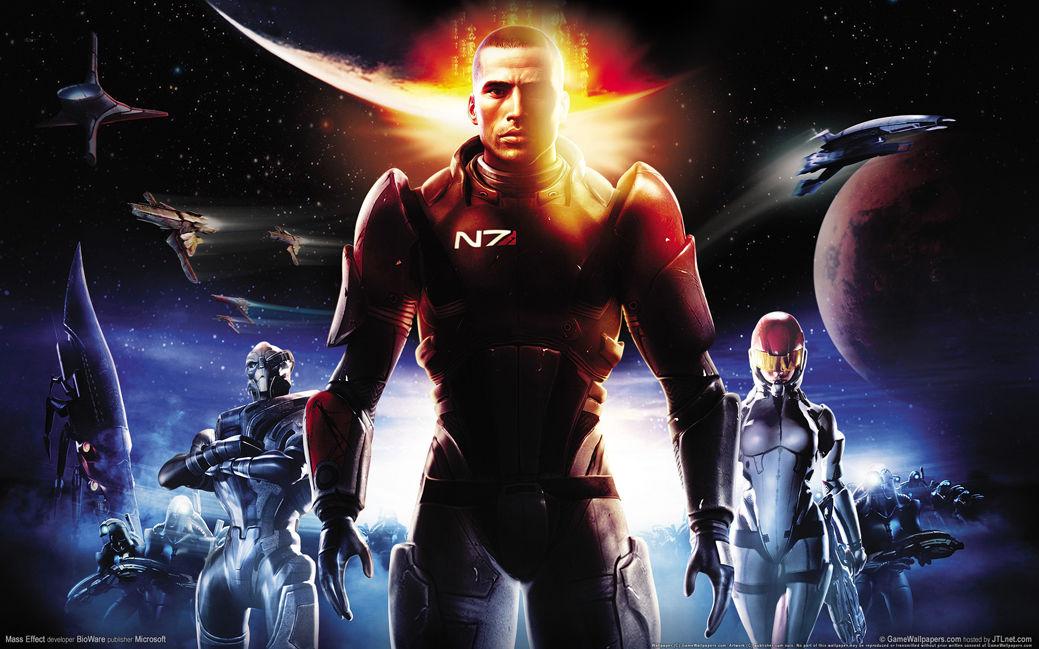 """Mass Effect 2 <font><b>3</b></font> <font><b>4</b></font> Game Fabric poster <font><b>21</b></font>"""" <font><b>x</b></font> 13"""" Decor 04"""