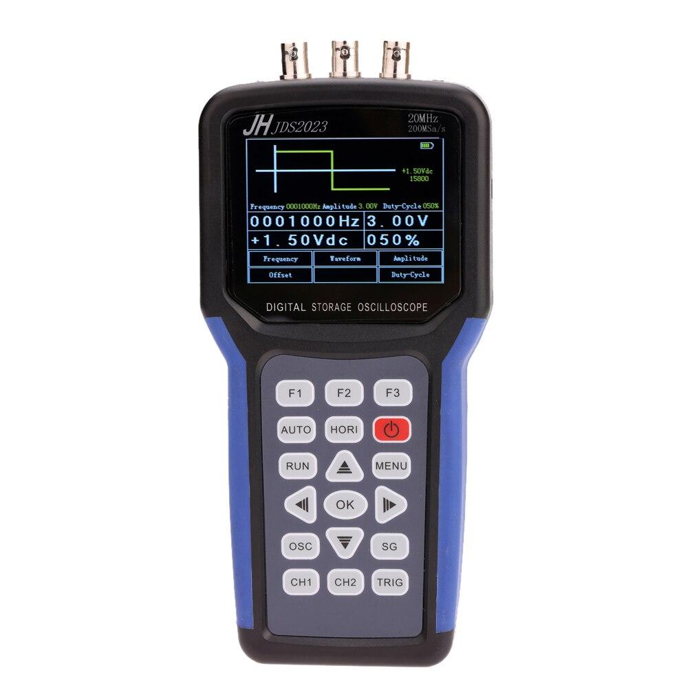 JDS2023A портативный цифровой осциллограф + генератор сигнала Портативный Сфера метр 1 Каналы 20 мГц осциллограф