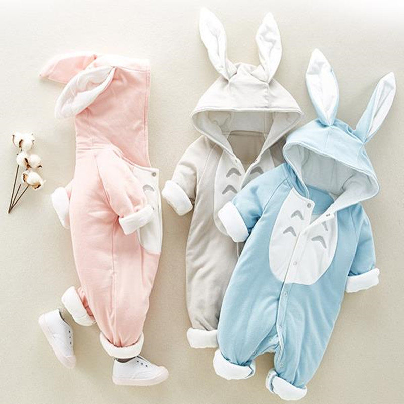2018 Baby Clothes Newborn Rompers Baby Girl Jumpsuit Boys Romper Easter Bunny New Born Cotton Infant Clothing Spring Outfits newborn infant baby girls boys long sleeve clothing 3d ear romper cotton jumpsuit playsuit bunny outfits one piecer clothes kid