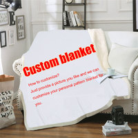 Custom Blanket Sherpa Fleece Soft Throw Blanket Personalized DIY Your Picture Rug Home Decoration Blankets for Beds