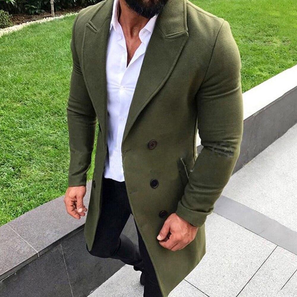 Mascube Hommes Mode Hiver Tranchée Manteau Hommes Longue Veste Hommes Long Manteau Classique Vestes Solid Slim Fit Manteaux abrigo hombre