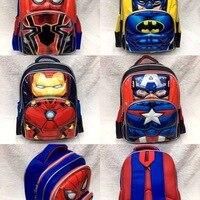 16 Superman Batman Spiderman Captain America Boy Girl Children Primary School bag Teenager Schoolbags Kids Student Backpacks