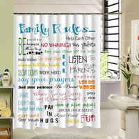 Shower Curtain Cool Design With Inspirationa Quotes Custom Waterproof Bath Shower Curtain Map Material For Kids