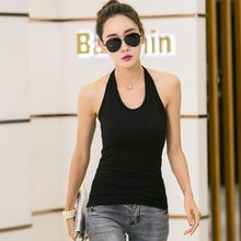 Black Noir White Sleeveless Top Casual Tee women Vest Top Summer Halter Camis Sexy Women Clothing Tank Tops T-shirt t shirt(China)