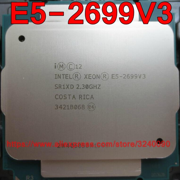 Процессор Intel ЦП Xeon E5-2699V3 QS версии 2,3 ГГц, 18 ядер, 45M, 135 Вт, Φ V3, E5 2699V3, бесплатная доставка, E5 2699 V3