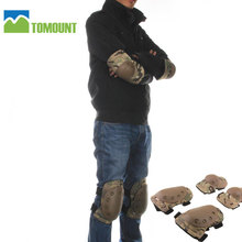 ФОТО tomount 4pcs airsoft millitary knee pads and elbows protector pads gear hunting skate scooter kneepads paintball cs tactical
