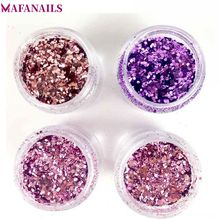 4 Colors Nail Glitter Nail Art Mix Color Acrylic Glitter Powder Sequins Manicure Gel Glitter For Summer Nail Art Decoration MA03 four angle stars shape nail glitter sequins for nail art decoration makeup facepainting nail gel manual diy crafts decoration