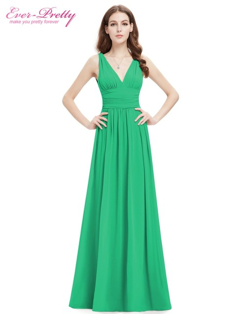 [Clearance Sale] Formal Evening Dresses EP09016 2017 Ever-Pretty A line Double V Elegant New Fashion Long Maxi Evening Dress