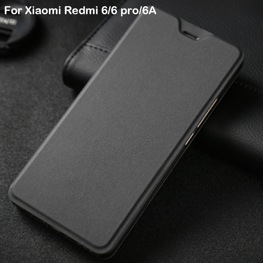 Xiaomi Redmi 6 étui Redmi 6 Pro Flip Cover cuir plastique étui de protection Capas Coque Apises d'origine Xiaomi Redmi 6A étui