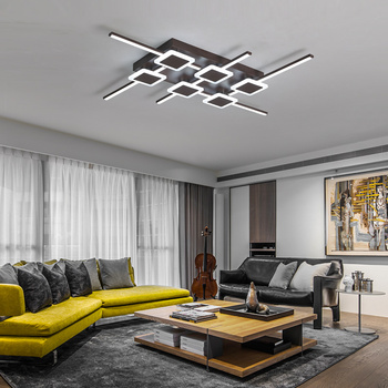 brown color Rectangle Modern LED Ceiling Lights For Livingroom Bedroom plafond Ceiling Lamp home lighting lampara techo Fixtures
