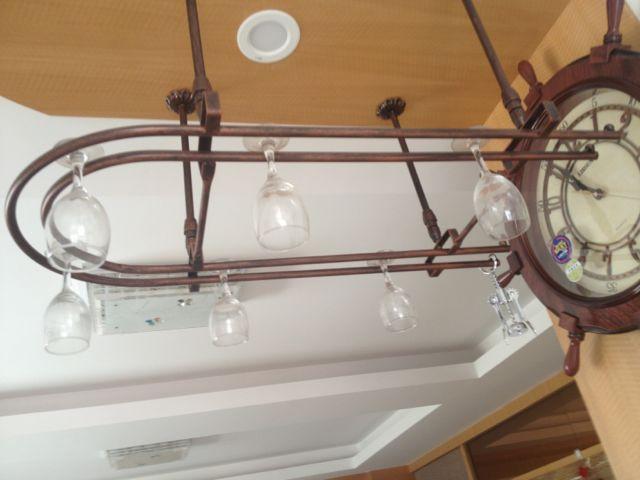 80*25CM Fashion Bar Red Wine Goblet Glass Hanger Holder Hanging Rack Shelf bar goblet holders