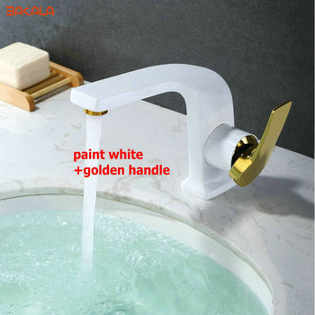 BAKALA Luxury Designs Fashionable Tap Bathroom Chrome/Black/../ Mixer Single Deck Mounted Bathroom Sink Faucet FOR Korea&Japan
