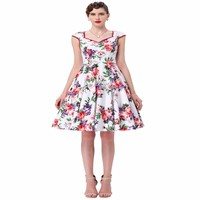 Giá rẻ bridesmaid dresses 2017 grace karin modest xanh màu xanh in hoa màu vàng phụ nữ mùa hè cổ điển cưới phù dâu ăn mặc