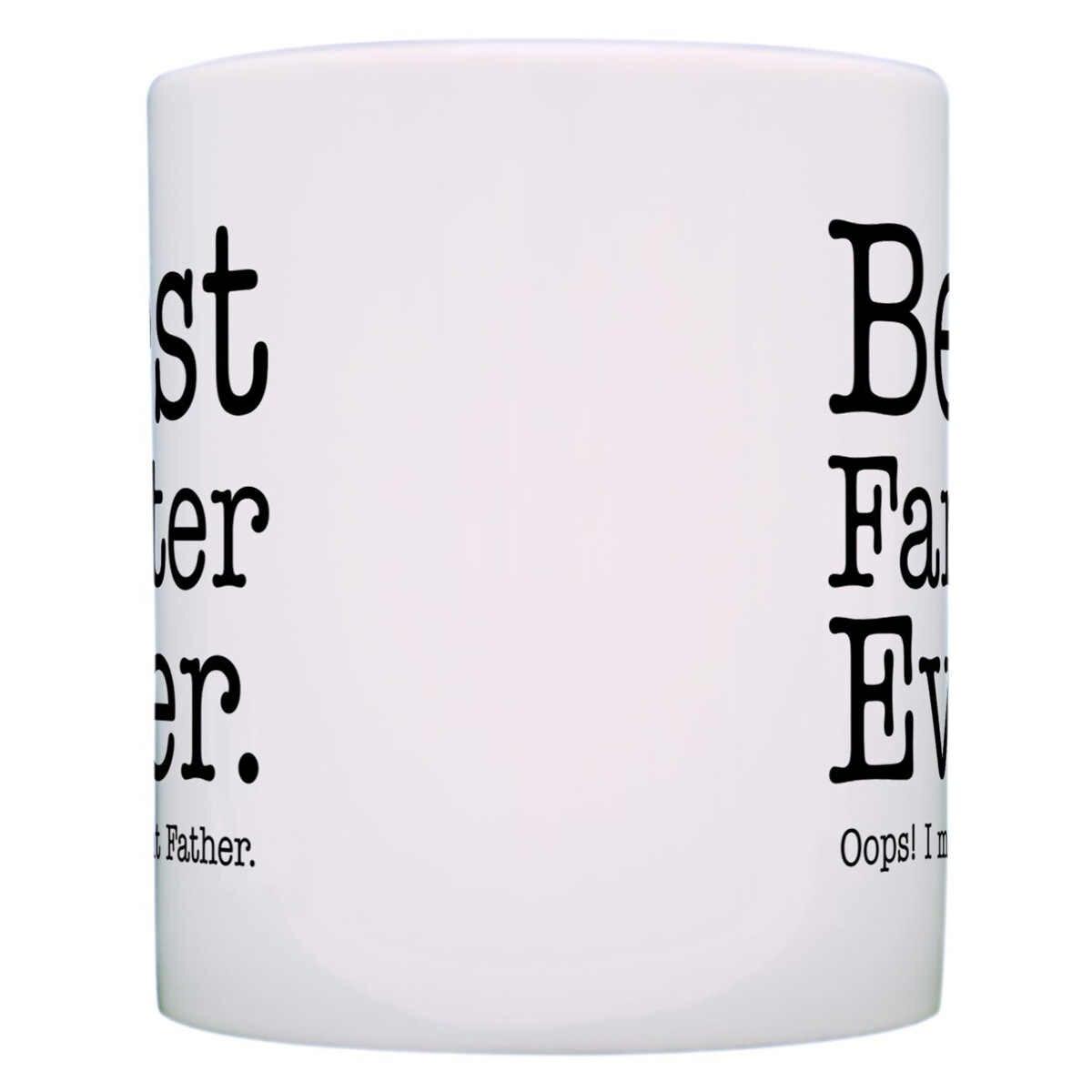 Hari ayah Hadiah Kopi Teh Mug Cangkir Susu Jus Mug untuk Ayah ayah Terbaik Pernah Dimaksudkan Oops Farter Unik Hadiah Rumah Kantor Drinkware