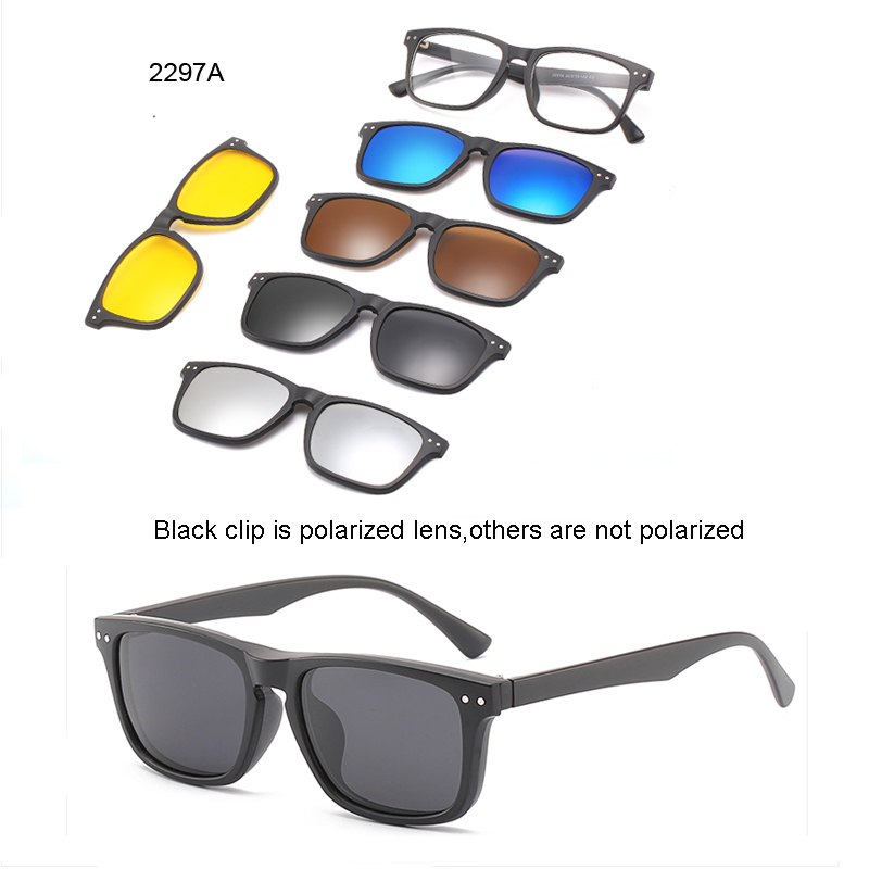 <font><b>5</b></font> lenes <font><b>Magnet</b></font> <font><b>Sunglasses</b></font> <font><b>Clip</b></font> Mirrored <font><b>Clip</b></font> on <font><b>Sunglasses</b></font> <font><b>clip</b></font> on glasses Men Polarized Custom Prescription Myopia image