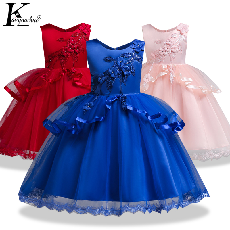 New Summer Kids Dresses For Girls Wedding Dress Elegant Chiffon Sleeveless Children Princess Dress Vestidos 4 5 6 7 8 9 10 Years стоимость