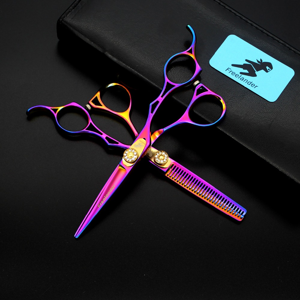 5.5 inch color high-grade hollow handle Unique hairdressing scissors Perfect cutting Thinning scissors Flat shearing Tooth shear5.5 inch color high-grade hollow handle Unique hairdressing scissors Perfect cutting Thinning scissors Flat shearing Tooth shear