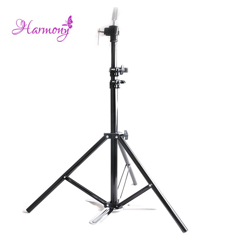 1pcs Salon Adjustable Tripod Stand Hairdressing Training Wig Mannequin Head Holder Clamp Hair Styling Practice Accessory Tools