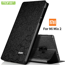 For Xiaomi Mi Mix 2 case silicone cover MOFi original flip leather for Xiaomi Mi Mix2 case 5.99' hard 360 protector coque fundas недорого