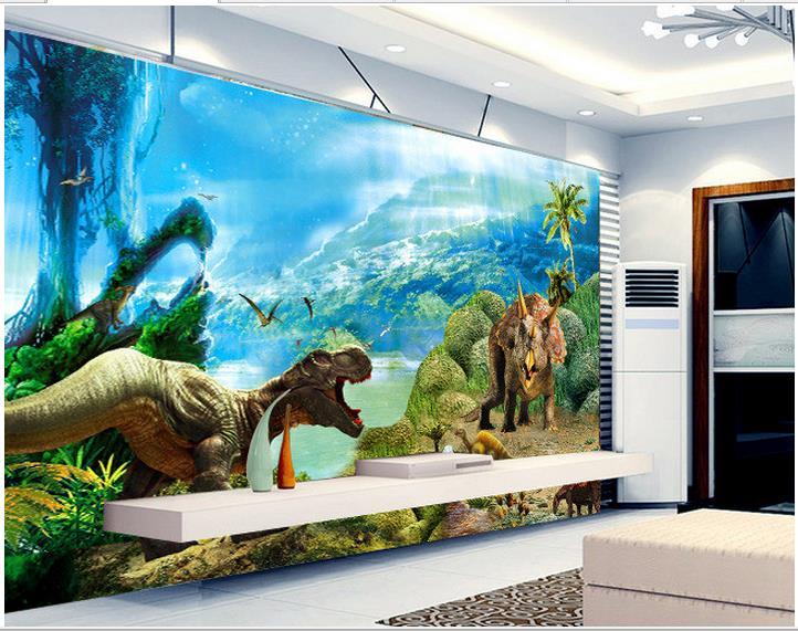 Wallpaper Custom Wall Murals 3 D Dinosaur Dreamy Background Paper Living Room Photo