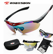 ROBESBON Unisex Outdoor Sports Cycling Riding Bicycle Bike MTB Road UV400 5 lens Sun Glasses Eyewear Goggle