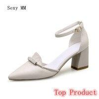 Genuine Leather Stiletto High Heels Women Pumps Woman High Heel Wedding Party Shoes Kitten Heels Plus Size 34-40 High Quality