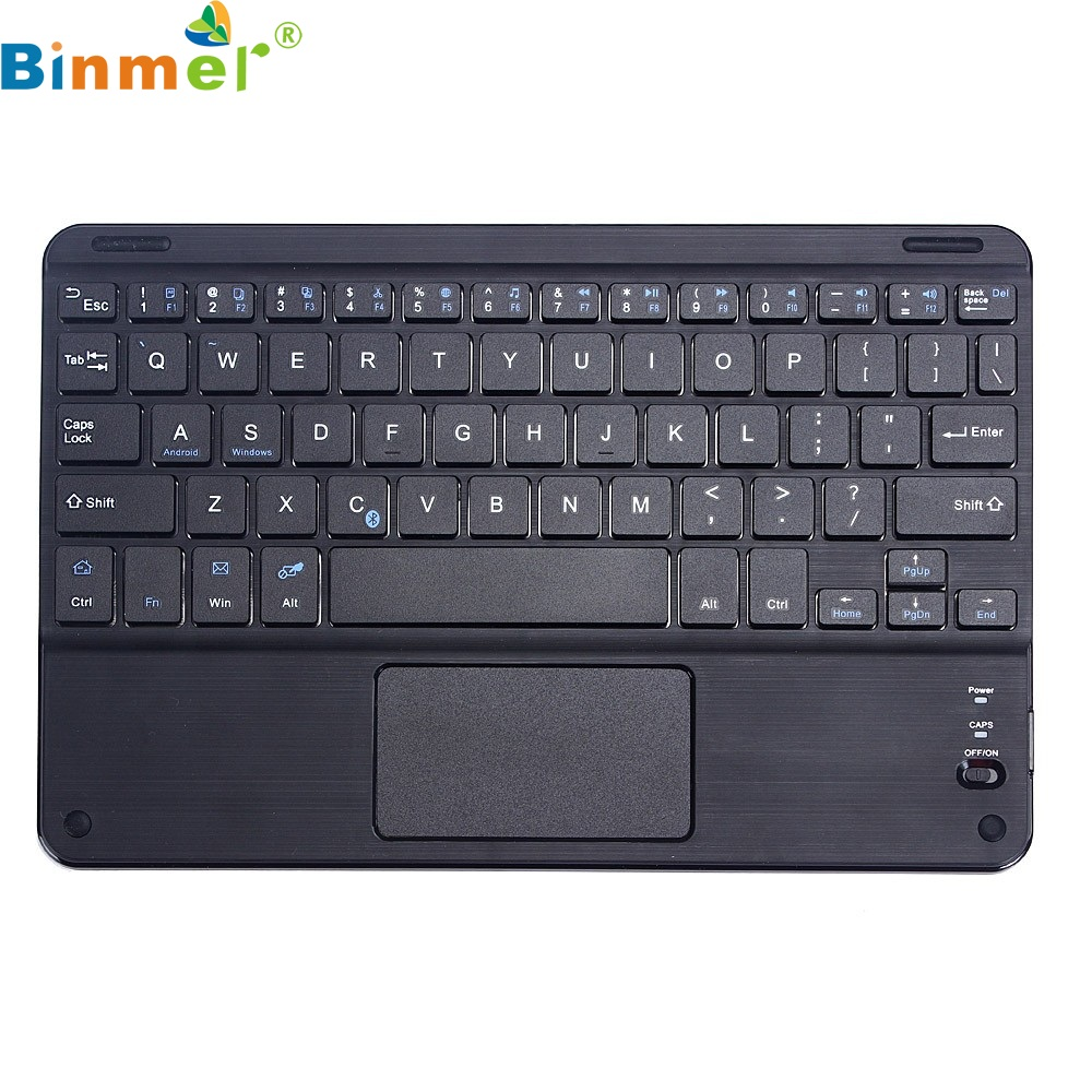 Beautiful Gift New Wireless Bluetooth Keyboard w/ Touchpad For All 7-10 inch Android Windows Tablet Wholesale price Jan06