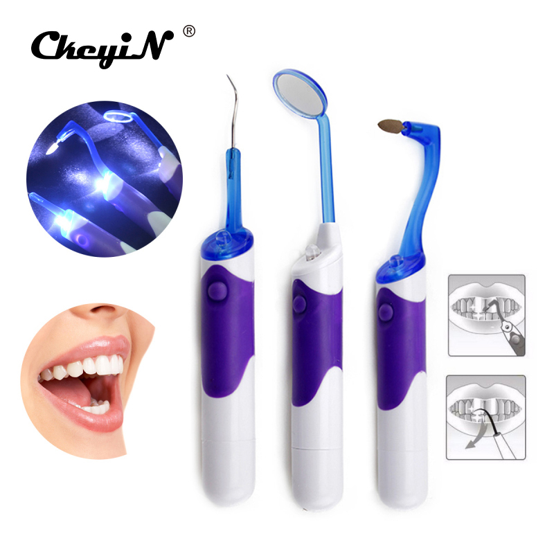 New Arrival Oral Hygiene Super Bright Lighted LED Dental Mirror Mouth Mirror kits Tooth Stain Eraser Plaque Remover  DCU07  new personal care led oral teeth clean tool kits dental hygeine explorer dental mirror plaque remove tooth stain eraser